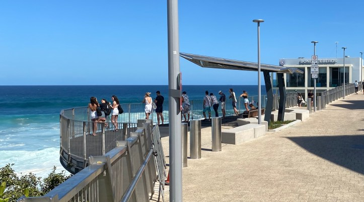 Looking out over Bondi Beach
