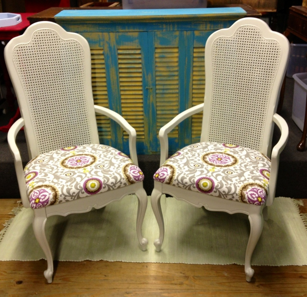 how to replace cane back chair with fabric desk for bedroom upholstered chairs walkthecreativepath