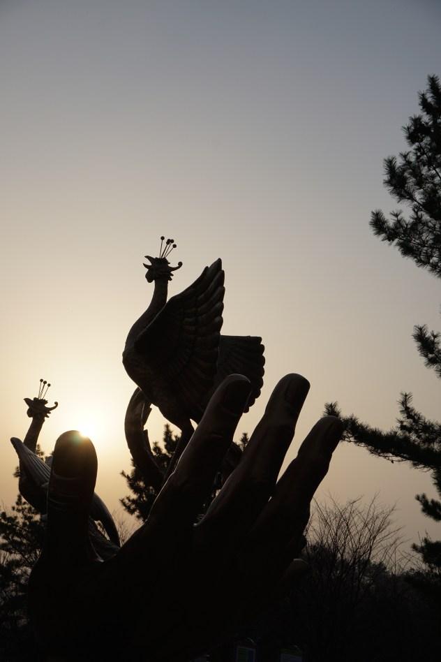 Statue of a phoenix