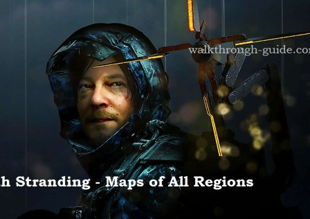 Death Stranding – maps of all regions