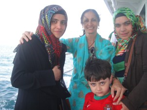 Turkish women with head scarves