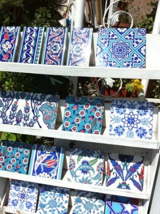 Iznik tile designs on display