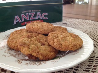 Anzac biscuits - chewy and crunchy