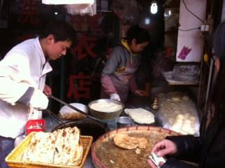 Sesame seed filled bread, Shanghai market