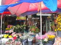 Fresh flower stall at market