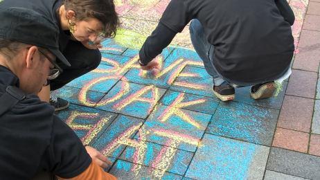 Sherry Larsen Holmes chalk drawing