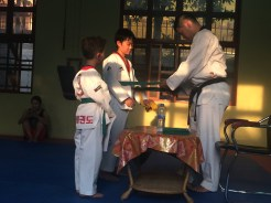 Master Yoo Jin Giving Belts