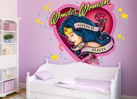 Wonder Woman Diamond Wall Decal