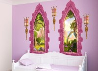 Pink Castle Window Wall Decal Set