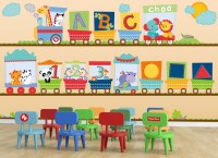 Fisher-Price ABC Train Wall Decal Set