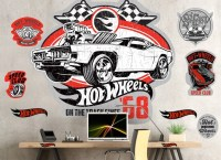 Hot Wheels Vintage 68 Wall Decal