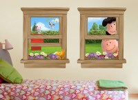 Charlie Brown & Snoopy Window Wall Decals