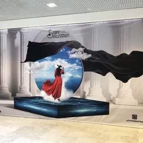 Création visuelle Bâche imprimée centre commercial