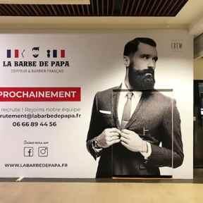 Palissade Chantier Bois Barbe de Papa Centre Commercial Fontaine des Clairons