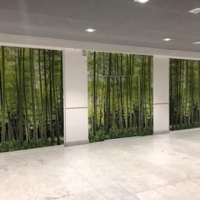 Palissade travaux visuel trompe l'oeil centre commercial