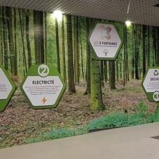 Palissade Chantier Bois Visuel Ecologie Centre Commercial Les 3 Fontaines