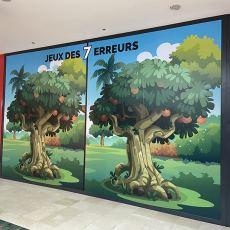 Adhésifs sur vitres visuel jeux enfants centre commercial