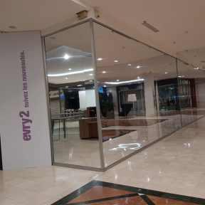 Palissade Miroir Centre Commercial SCC Evry2