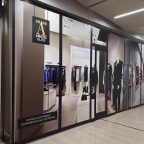 Palissade Travaux Bois Centre Commercial Eurocommercial GrandA Amiens Glisy