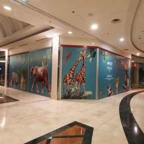 Palissade Travaux Bois Visuel Animaux Centre Commercial Evry2