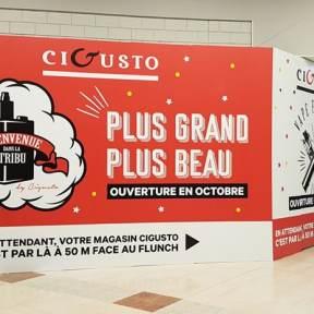 Palissade Travaux Centre Commercial Cigusto Chambray Les Tours