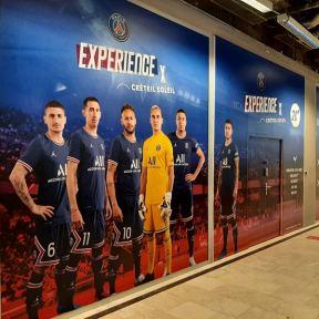 Palissade Travaux Expérience PSG x Créteil Soleil Centre Commercial