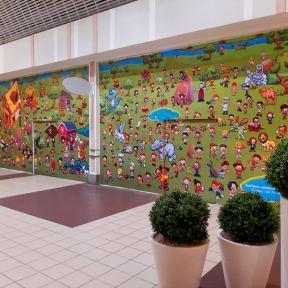 Palissade Chantier Bois Visuel Enfant Centre Commercial Geant Angouleme