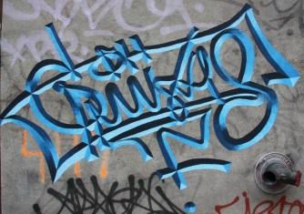 Mathieu Connery graffiti, St-Dominique