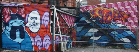 Under Pressure Festival zone 2014 - 3 walls of Hoarkor (aka HRKR)