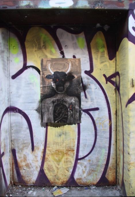 wheatpaste by Kat in alley between St-Laurent and Clark
