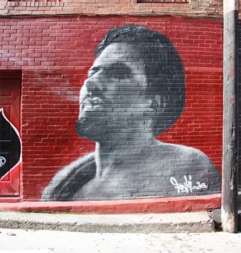 mural by Fonki in Roy alley