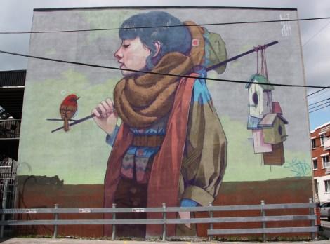 Betz from Etam Cru mural for Mural Festival 2014