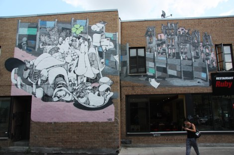 Vilx's contribution to the 2014 edition of Mural Festival
