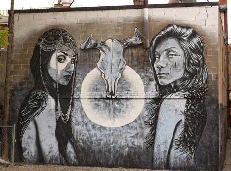 mural by Fin DAC and Angelina Christina for the 2013 edition of Mural Festival; photo © Fin DAC