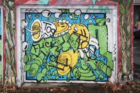 Nixon on garage door near Berri and Sherbrooke