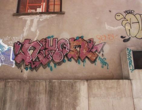 Nixon graffiti on Clark