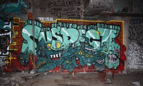 Nixon piece inside abandoned building