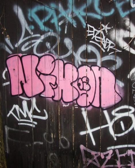 Nixon graffiti on Marie-Anne