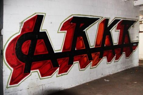Hrkr aka Hoarkor piece found inside abandoned building