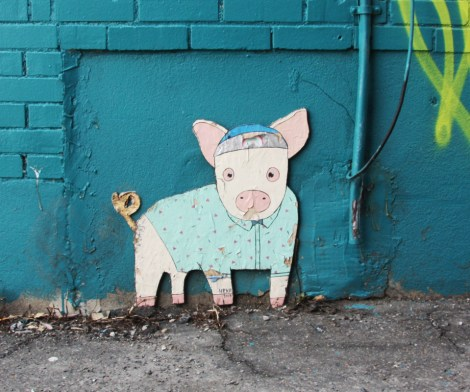 Painted cut-out by HRKR in Villeray
