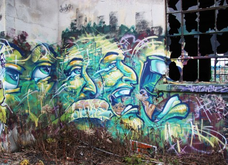 "Monk.e piece at the abandoned ""Jailspot"""