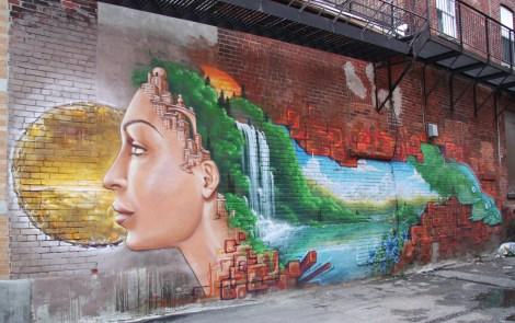 Monk.e mural in lower Mile End