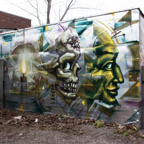 Monk.e mural at Plaza Walls