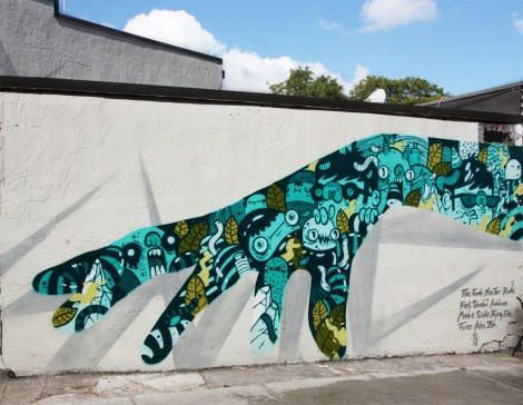 Astro's part in A'Shop's Hip Hop You Don't Stop project on the walls of a NDG garage.