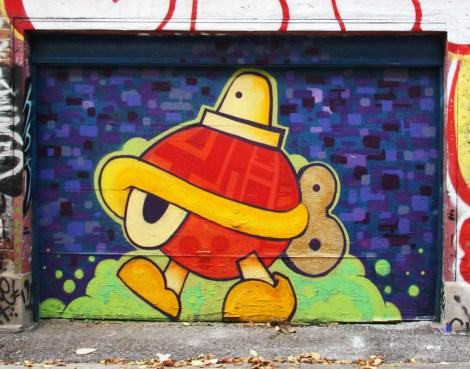 Turtle Caps on garage door