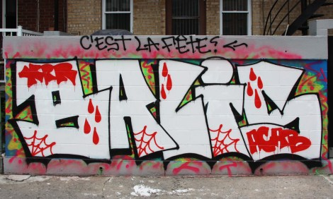Balis graffiti in Mile End alley
