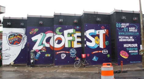 Zoofest walls painted by Rouks, Crane, Hellp and Wonez