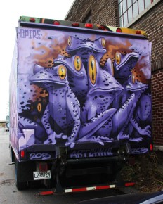 Opire on back of truck