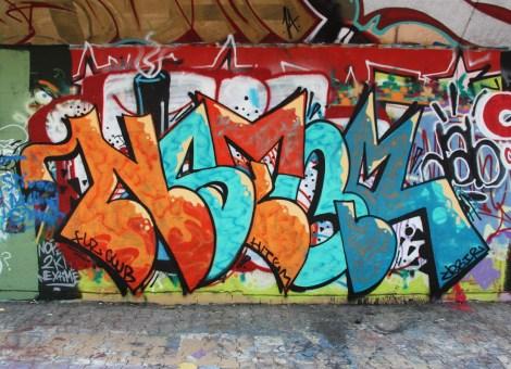 Nestor at the Charlevoix legal graffiti wall
