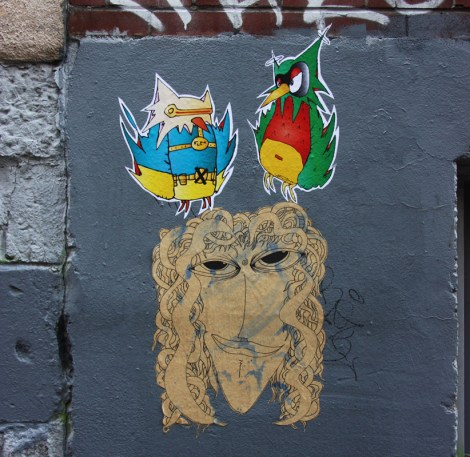 Paste-ups by Futur Lasor Now (top) and Adida Fallen Angel (bottom)